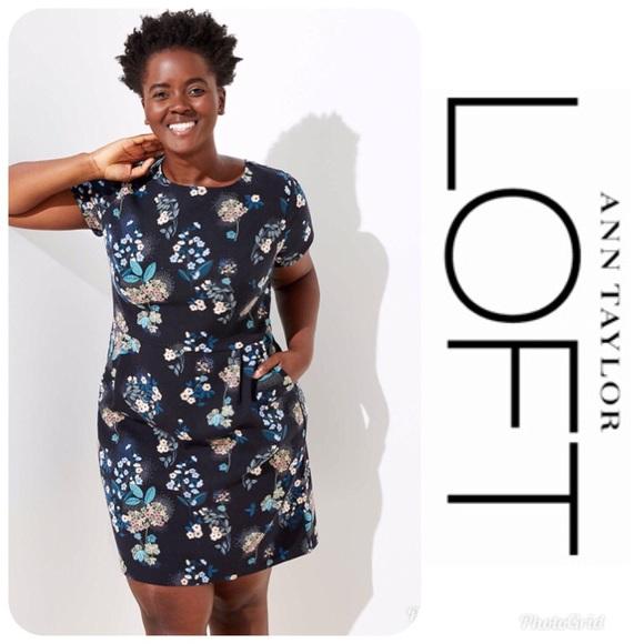 e3e1a93cd40 NWT LOFT Plus Floral Scoop Back Dress 16  90!